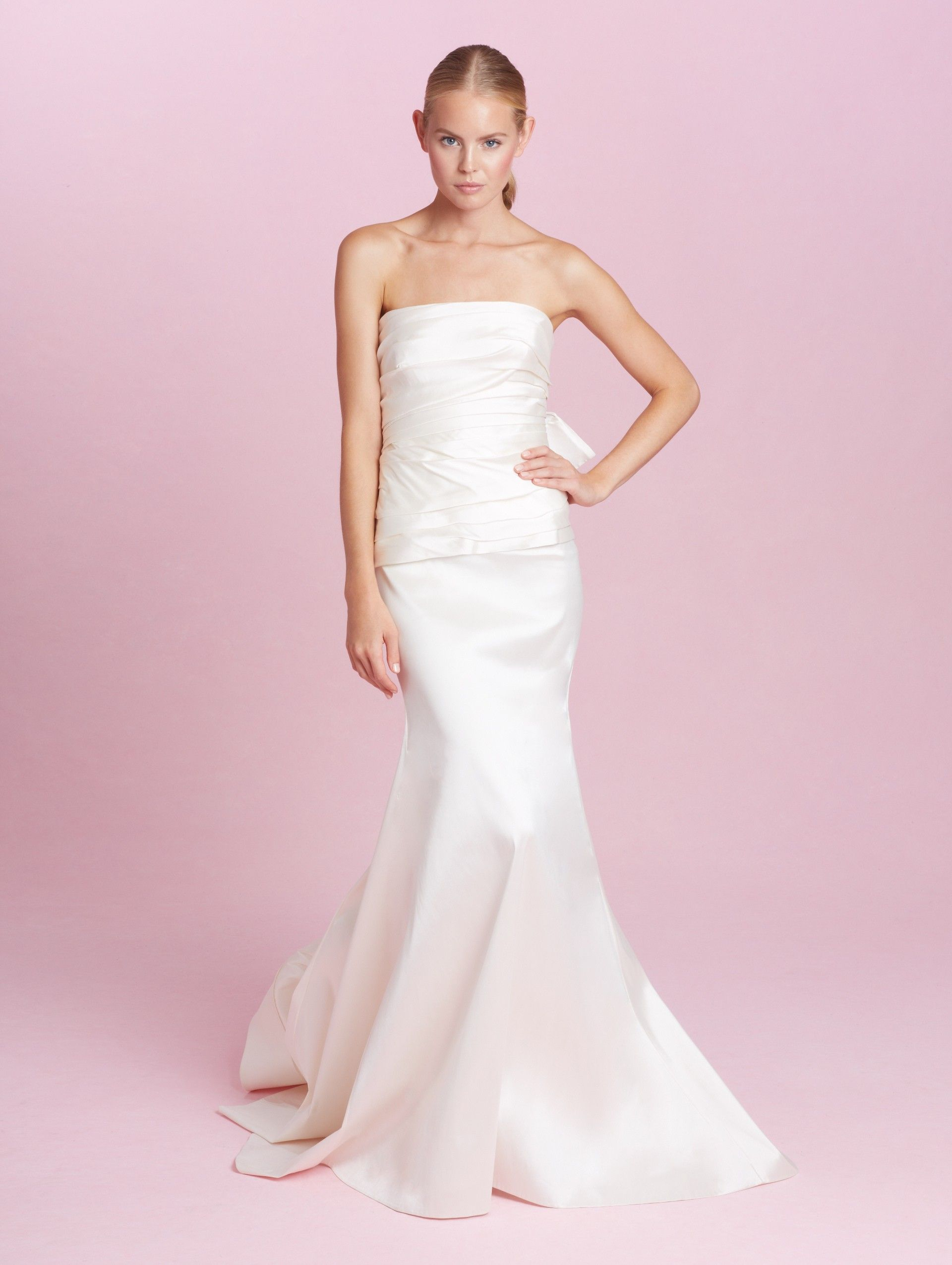 Oscar de la Renta - Caroline Silk Mikado Trumpet Gown | Dream Formal ...