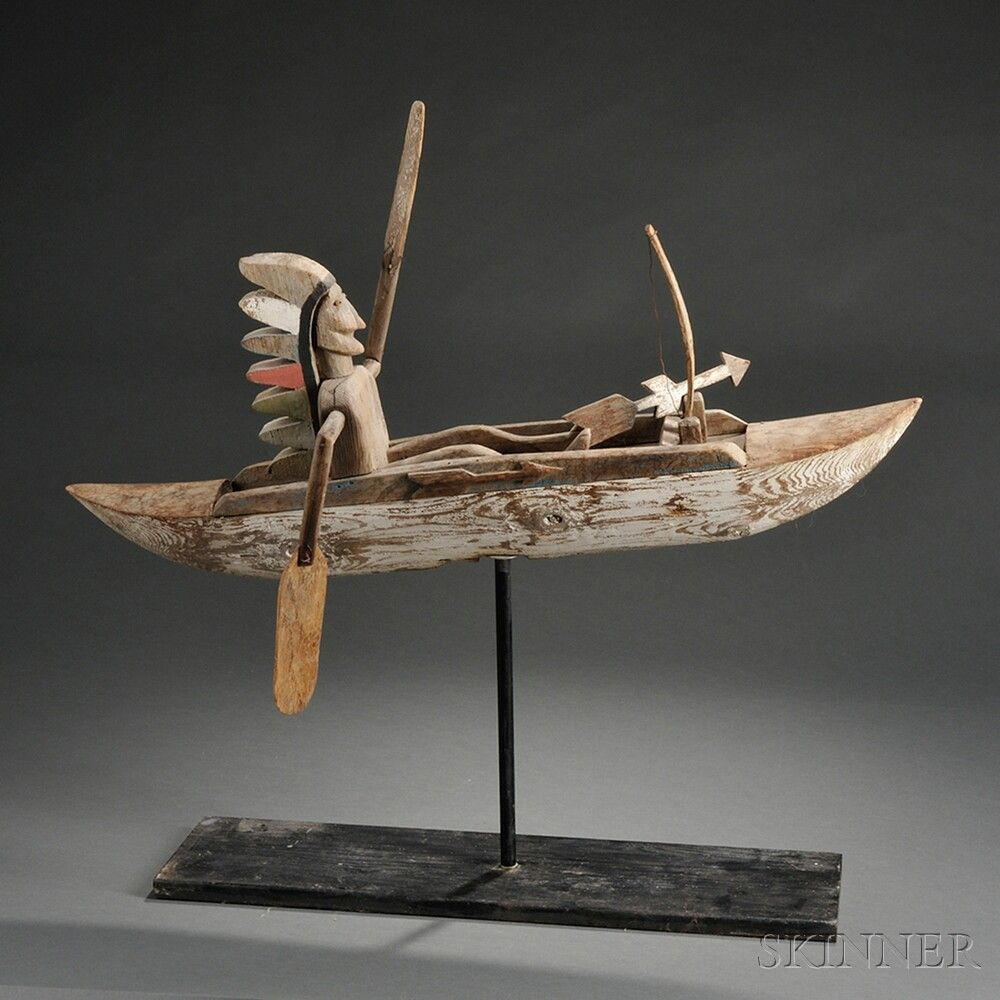 Indian in Canoe Whirligig | Sale Number 2743T, Lot Number ...