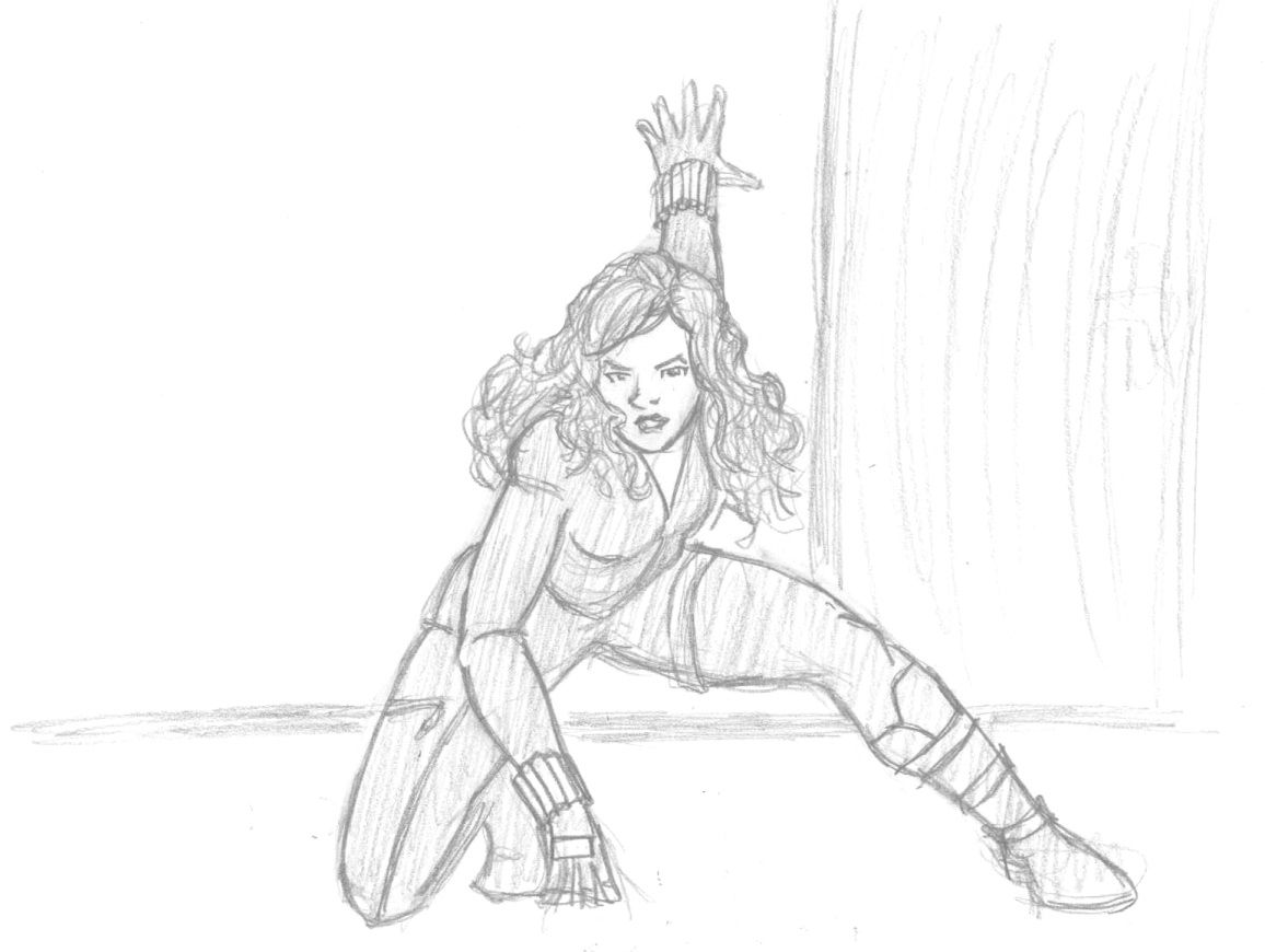 black widow avengers coloring pages - Black Widow Marvel Coloring Pages