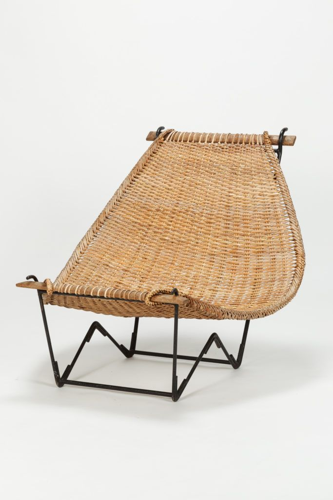 John Risley Lounge Chair Duyan Rattan 50s Okay Art