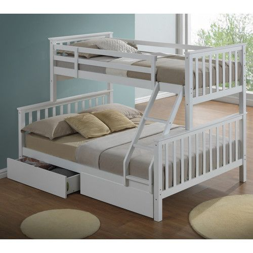 Mara Single Bunk Bed With Drawers In 2020 Wooden Bunk Beds