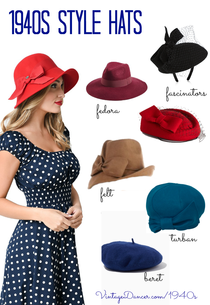 Vintage Inspired 1940s Style Hats For Ladies 1940s Hats