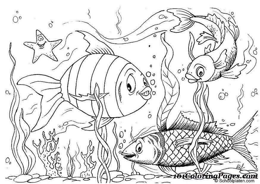 Complex Fish Coloring Pages Coloring Coloring Pages