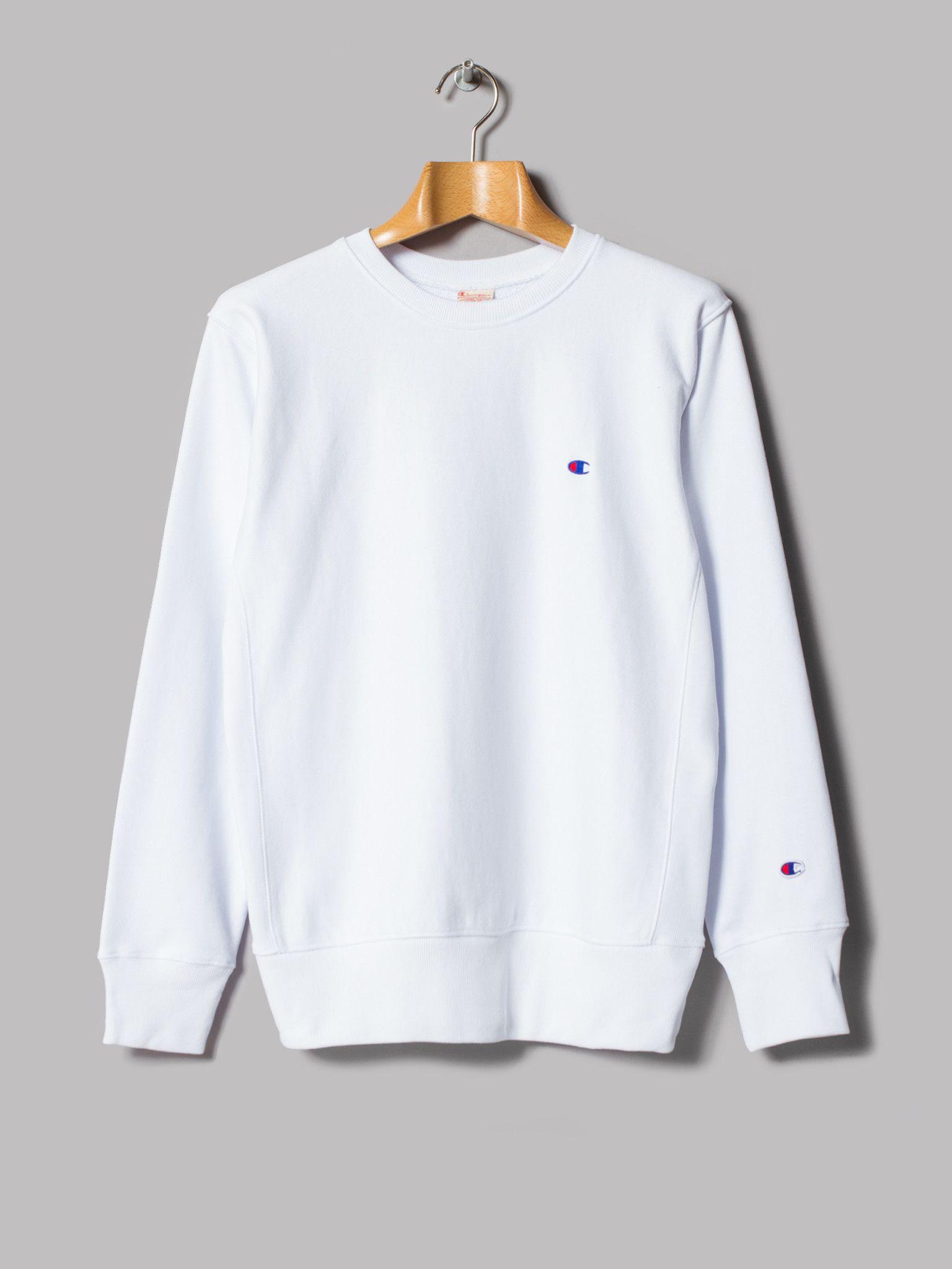1ef847e3b529b7 Champion Reverse Weave Crewneck Sweatshirt (White)