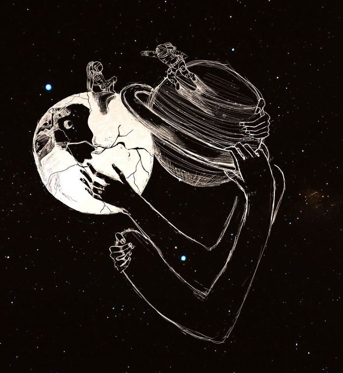 I Draw People S Emotions That Can T Be Expressed By Words Illustration Art Drawing Romantic Art Drawings