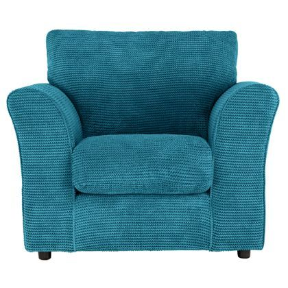 Barney Fabric Chair Teal Homebase 199 Also In Choc Armchairs