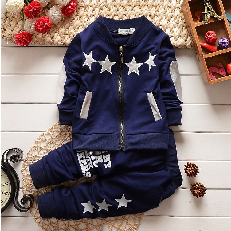 >> Click to Buy << Clothing Sets New Fashion Baby boys/girls Christmas Tracksuit Set Long Sleeve Kids Outfits Suits Zip Cardigan Star Sports Suit #Affiliate