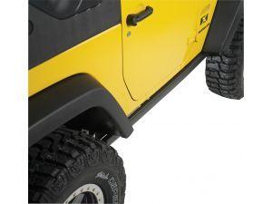 Mopar 82210585 Production Rubicon Rock Rails In Satin Black For 07 18 Jeep Wrangler Jk 2 Door Jeep Wrangler Mopar Jeep Wrangler Jk