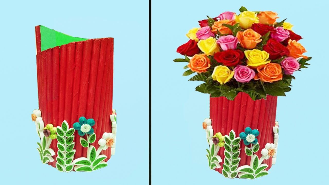 how to make beautiful paper flower vase paper quilling art .  sc 1 st  Template & make a paper flower vase - Suzen.rabionetassociats.com