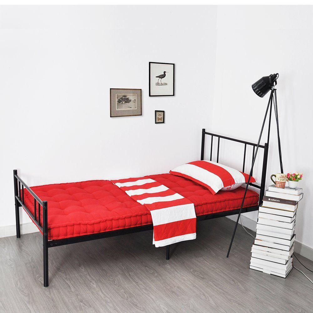 Bedroom Modern Grey Champagne Stella Metal Platform Bed