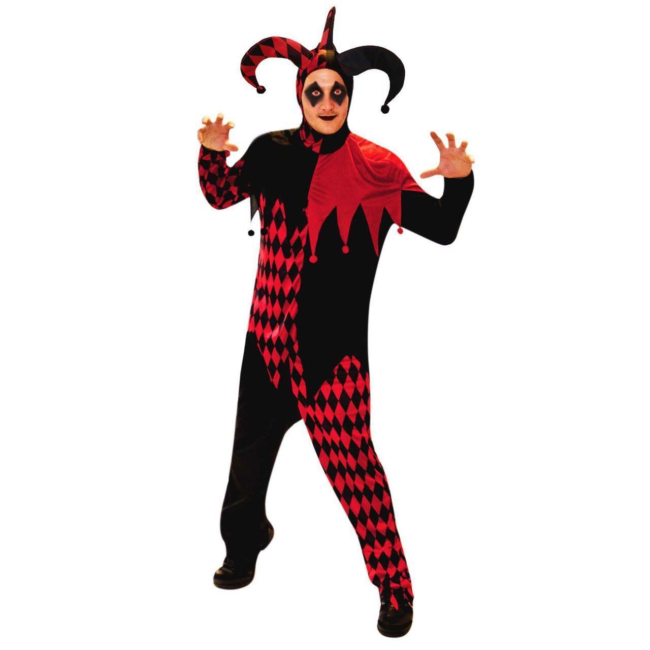 fancydressvip - Deranged Jester Clown Fancy Dress Costume, £17.99 ...