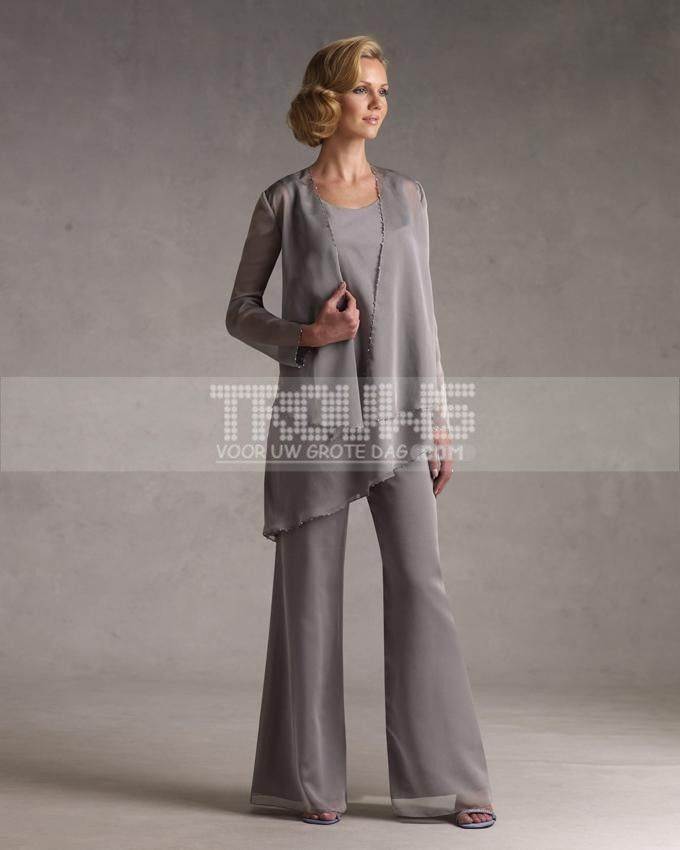 mother of the bride pant suits formal | Elegant Mother Bride Pant ...