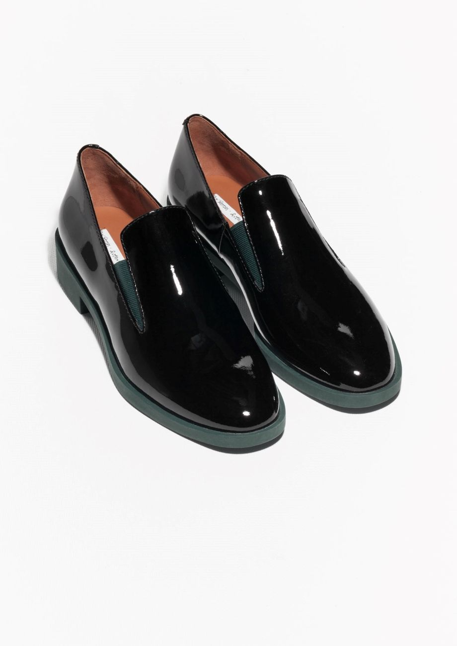 & Other Stories | Glossy Leather Loafers