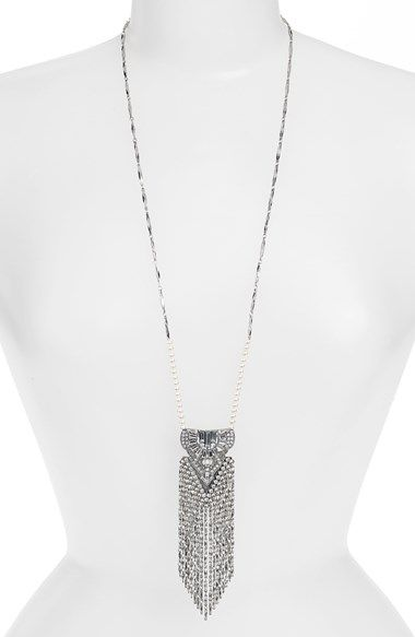 MISSING PIECE 'Art Deco' Crystal Chain Pendant Necklace available at #Nordstrom
