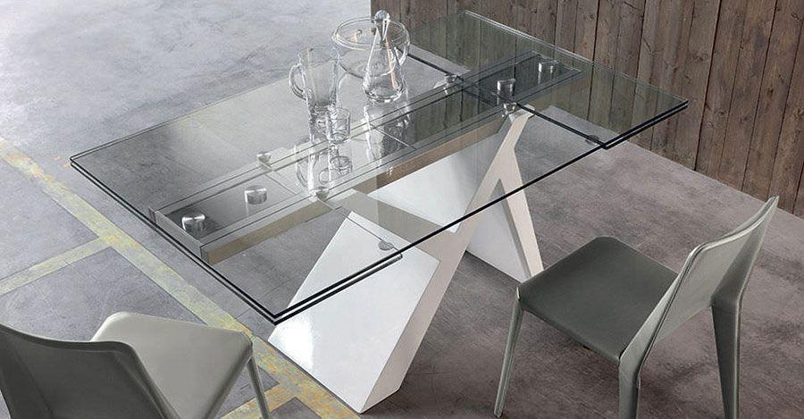 25 Tavoli in Vetro Allungabili di Design | Tavolo vetro ...