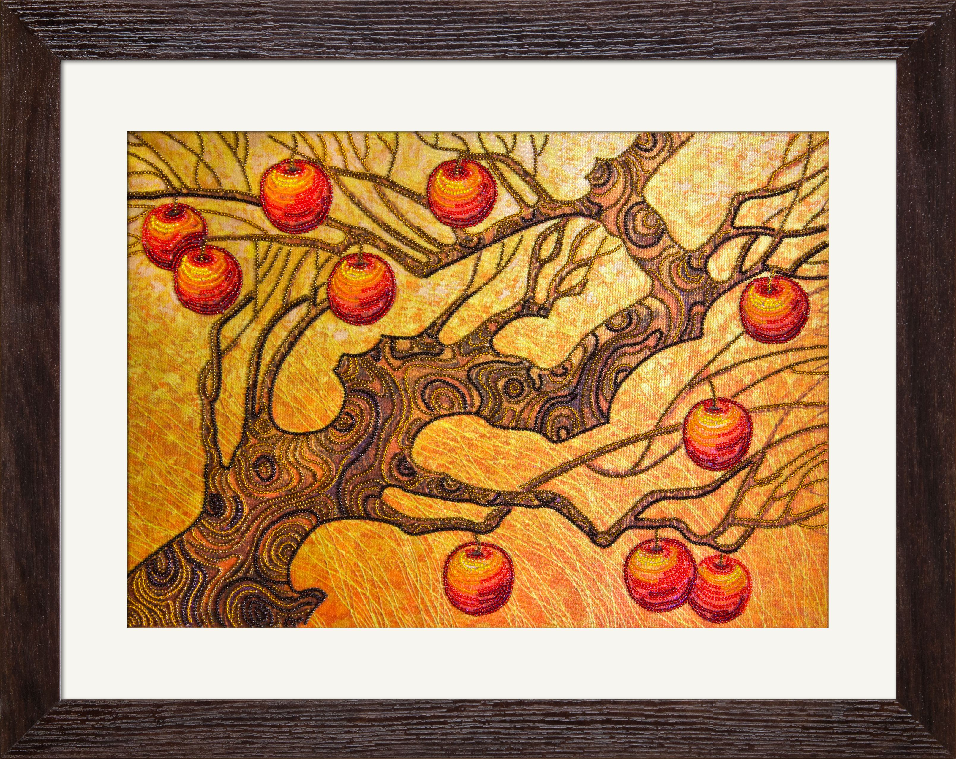 DK1008 Autumn garden. Bead embroidery kits #nova_sloboda #embroidery #handmade #tree #apple