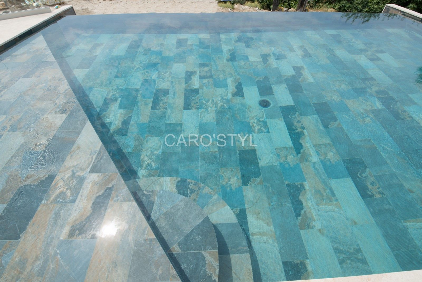 Piscine En Carrelage Green Bali 30x60 Cm Grand Format Aux