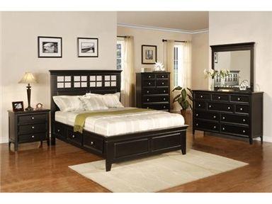 Del Mar Ebony Queen Storage Bed At Woodley S Furniture Queen