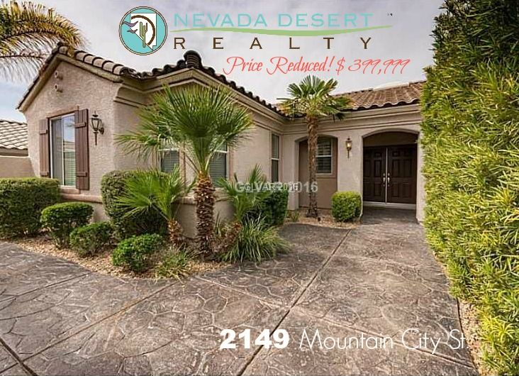 City Of Henderson Nv >> Beautiful Home In Sun City Anthem 2149 Mountain City St