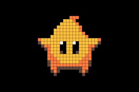 Super Mario Galaxy Luma Star Pixel Art Pixel Art Art 8