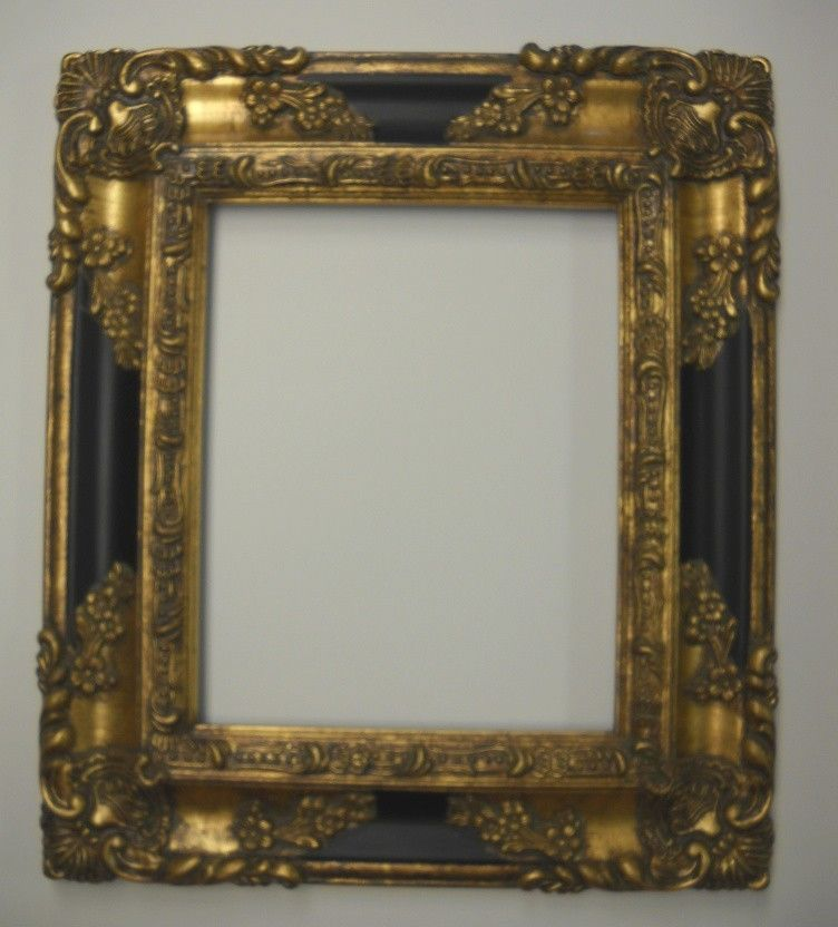 PICTURE FRAME- antique gold & black ORNATE- 8x10 #1238 | good art ...