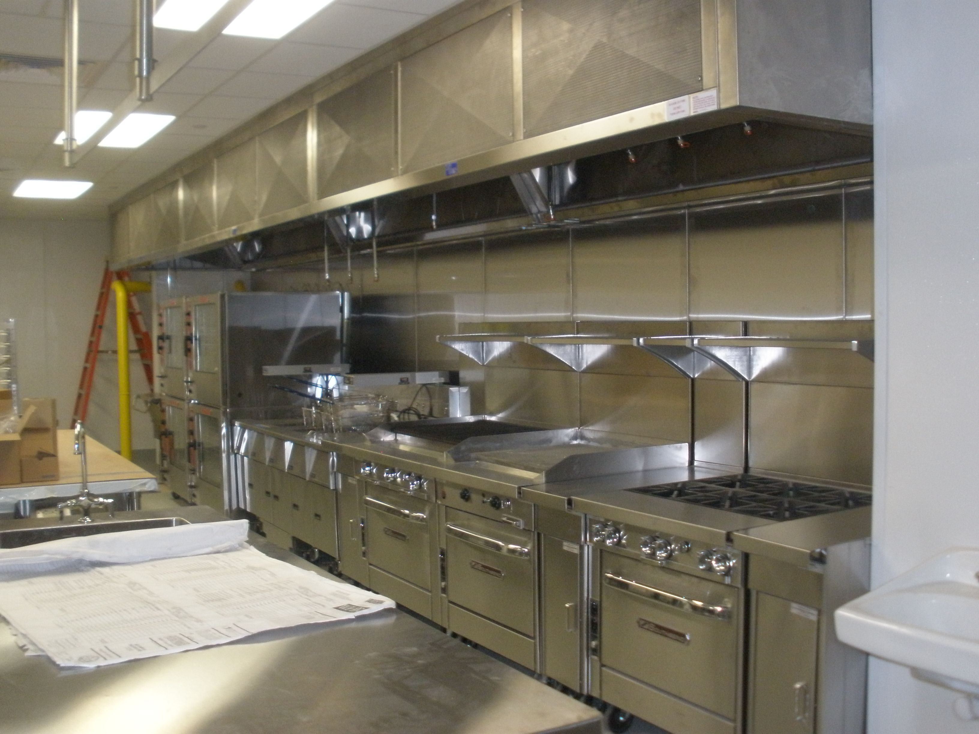 Small Restaurant Kitchen Layout Ideas Part - 16: Small Restaurant Kitchen Design With Stainless Steel Commercial Designers