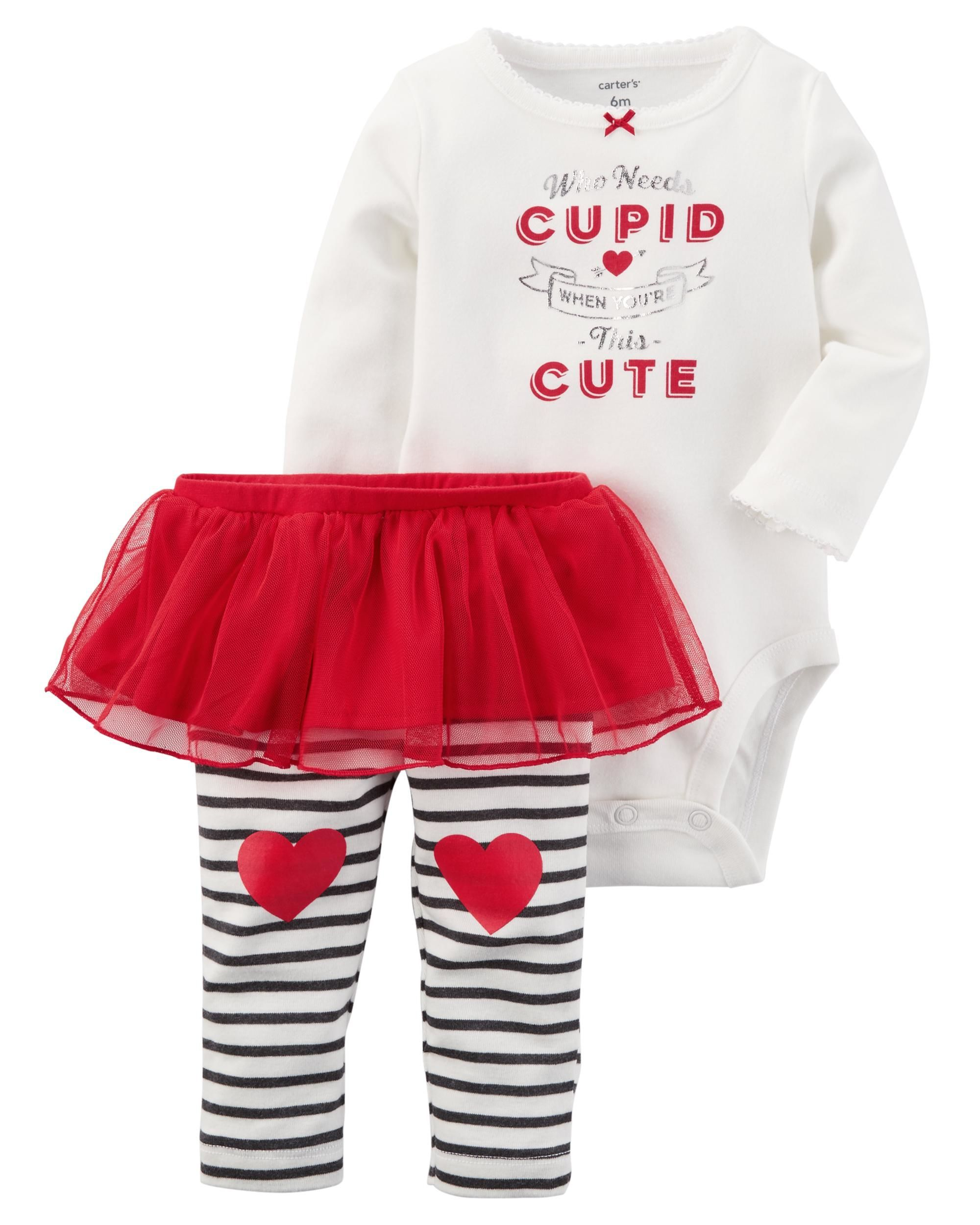 29821754e 2-Piece Bodysuit   Tutu Pant Set