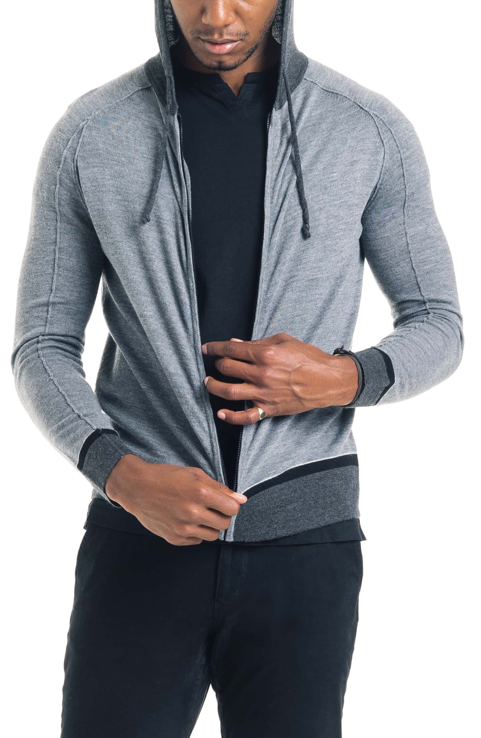 Good Man Brand Modern Slim Fit Merino Wool Hoodie Nordstrom Wool Hoodie Slim Fit Hoodies [ 2392 x 1560 Pixel ]