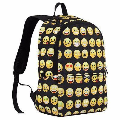 Emoji Emoticon Backpack Black/Yellow Kids