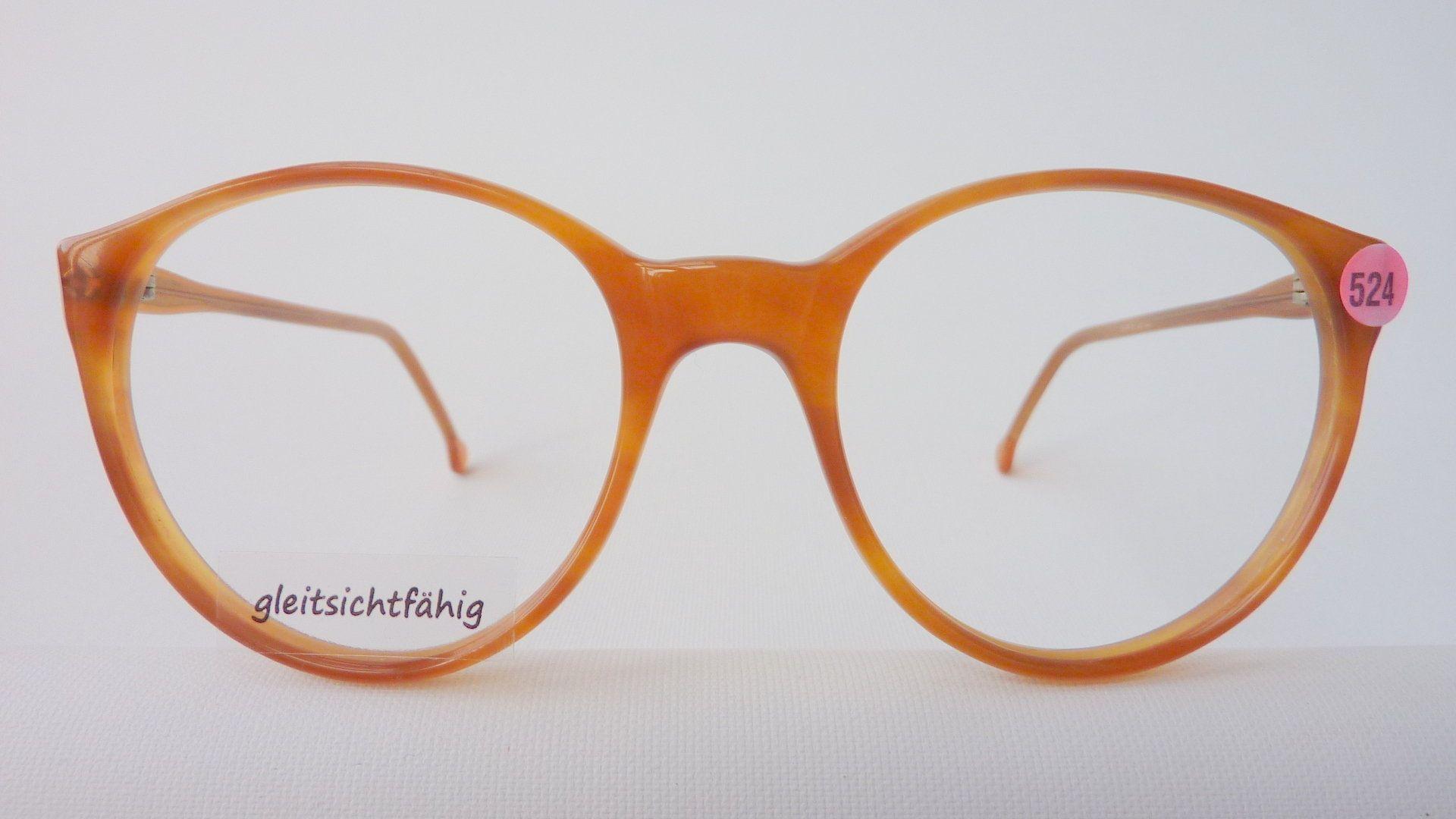 Meitzner Brille grosse Pantoform 80s caramellbraun | Sehhilfe ...