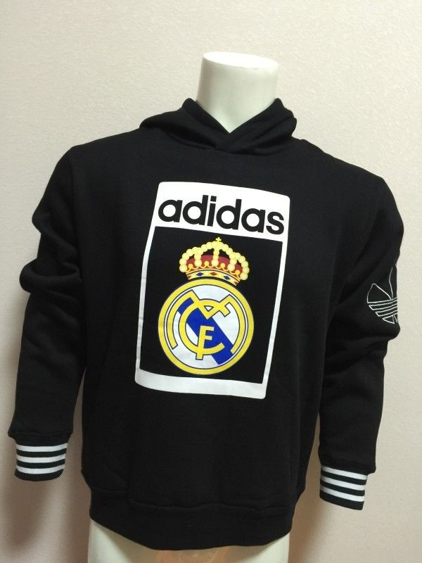 sneakers for cheap 809fe da762 Real Madrid Jersey 2015/16 Adidas Black Training Hoodies ...
