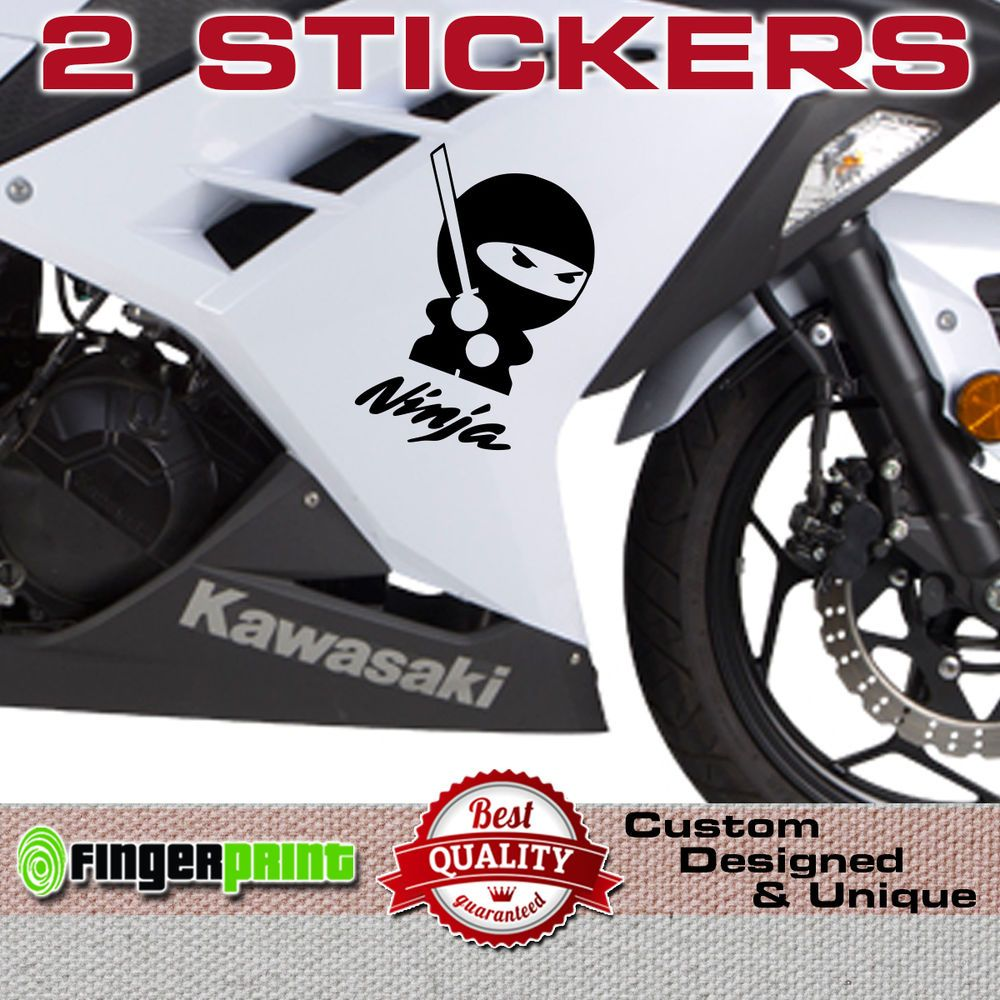 Ninja sticker decal vinyl japan kawasaki zx6 zx7 zx9 zx12 r bike fairing tank zx fingerprint