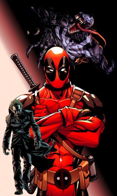 #Deadpool #Fan #Art. (The JOKER, DEADPOOL, And VENOM!) By: Skarrwar. (THE * 5 * STÅR * ÅWARD * OF: * AW YEAH, IT'S MAJOR ÅWESOMENESS!!!™)[THANK U 4 PINNING!!!<·><]<©>ÅÅÅ+(OB4E)