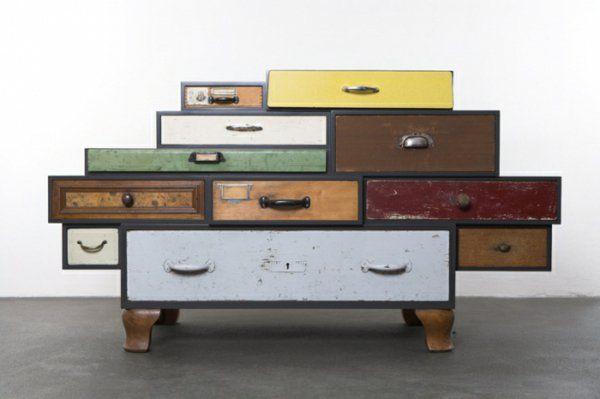 retro möbel einrichtung schubladen schrank(Cool Furniture Creative ...