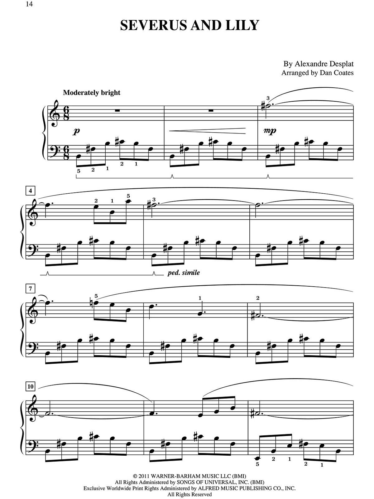 This is a picture of Stupendous Harry Potter Theme Song Sheet Music for Piano Free Printable