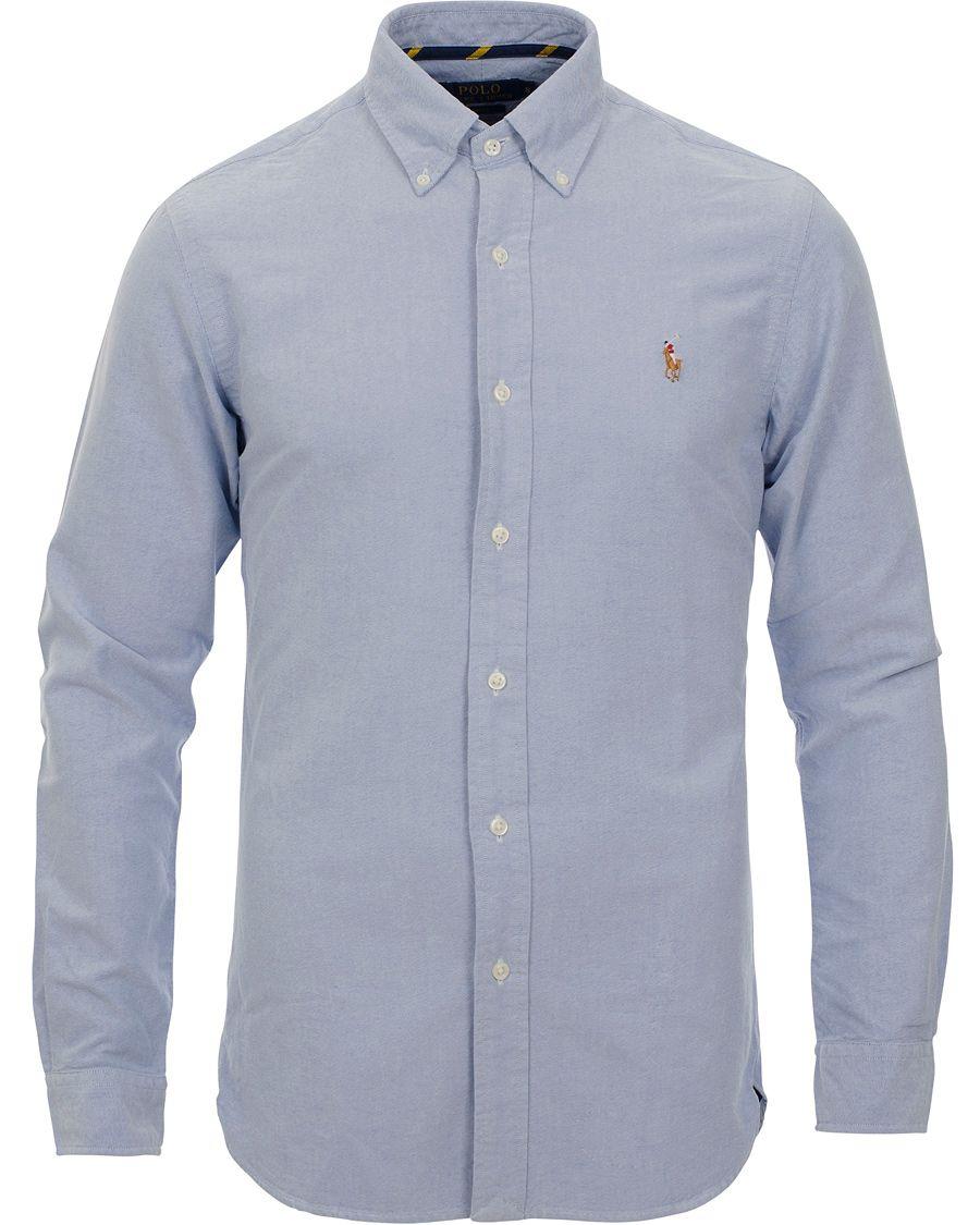 839513e4ad892 Polo Ralph Lauren Slim Fit Shirt Oxford Blue XXL