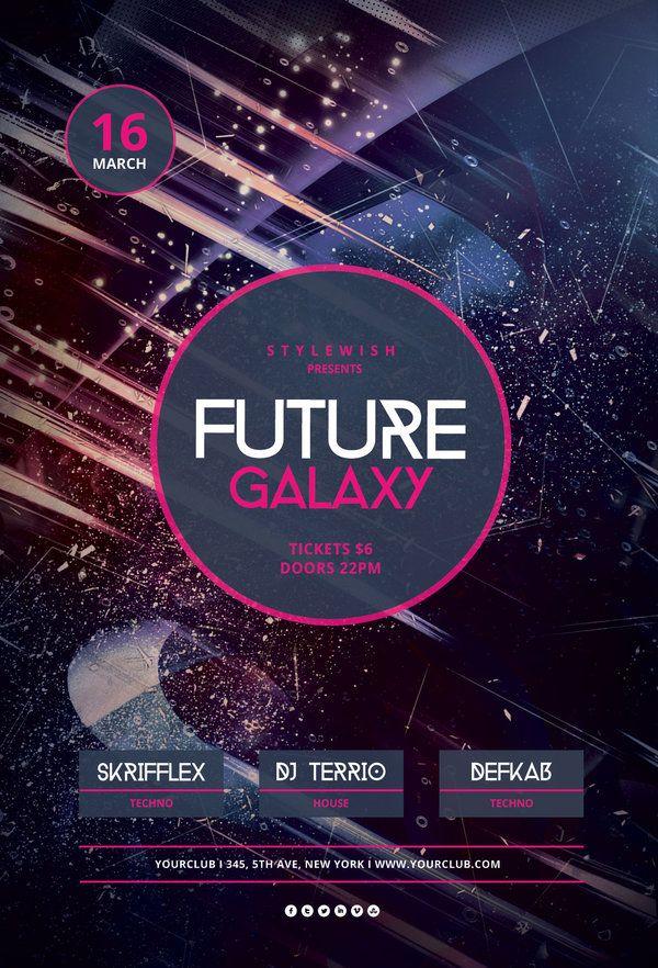 Future Galaxy Flyer | Psd templates