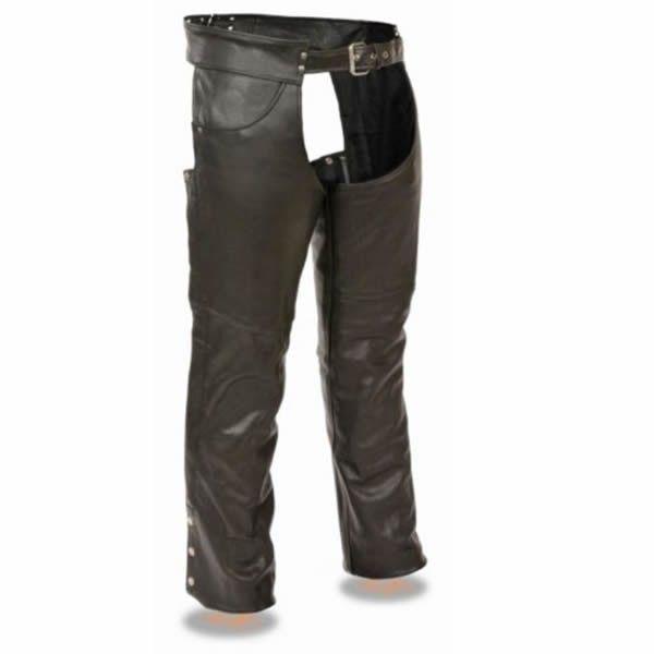 Milwaukee Biker Style Jean Pocket Leather Mens Tall Motorcycle Chaps Motorcycle Chaps Jean Pockets Biker Style