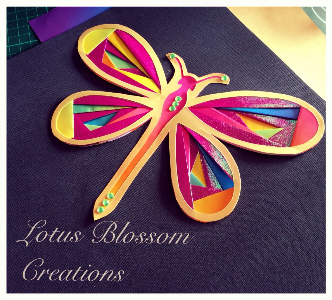 Handmade dragonfly paper iris folding craft lotus blossom handmade dragonfly paper iris folding craft jeuxipadfo Gallery