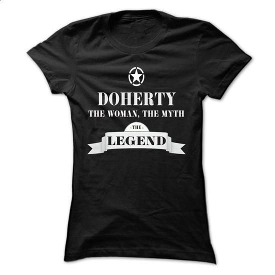 DOHERTY, the woman, the myth, the legend - #tshirt text #sweatshirt men. BUY NOW => https://www.sunfrog.com/Names/DOHERTY-the-woman-the-myth-the-legend-upfjvohqrx-Ladies.html?68278