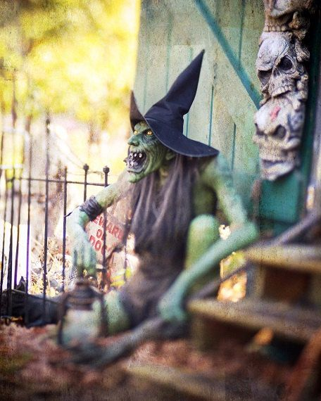 Halloween Witch Green Witch Spooky Scary Evil Dark Photography - halloween decorations haunted house