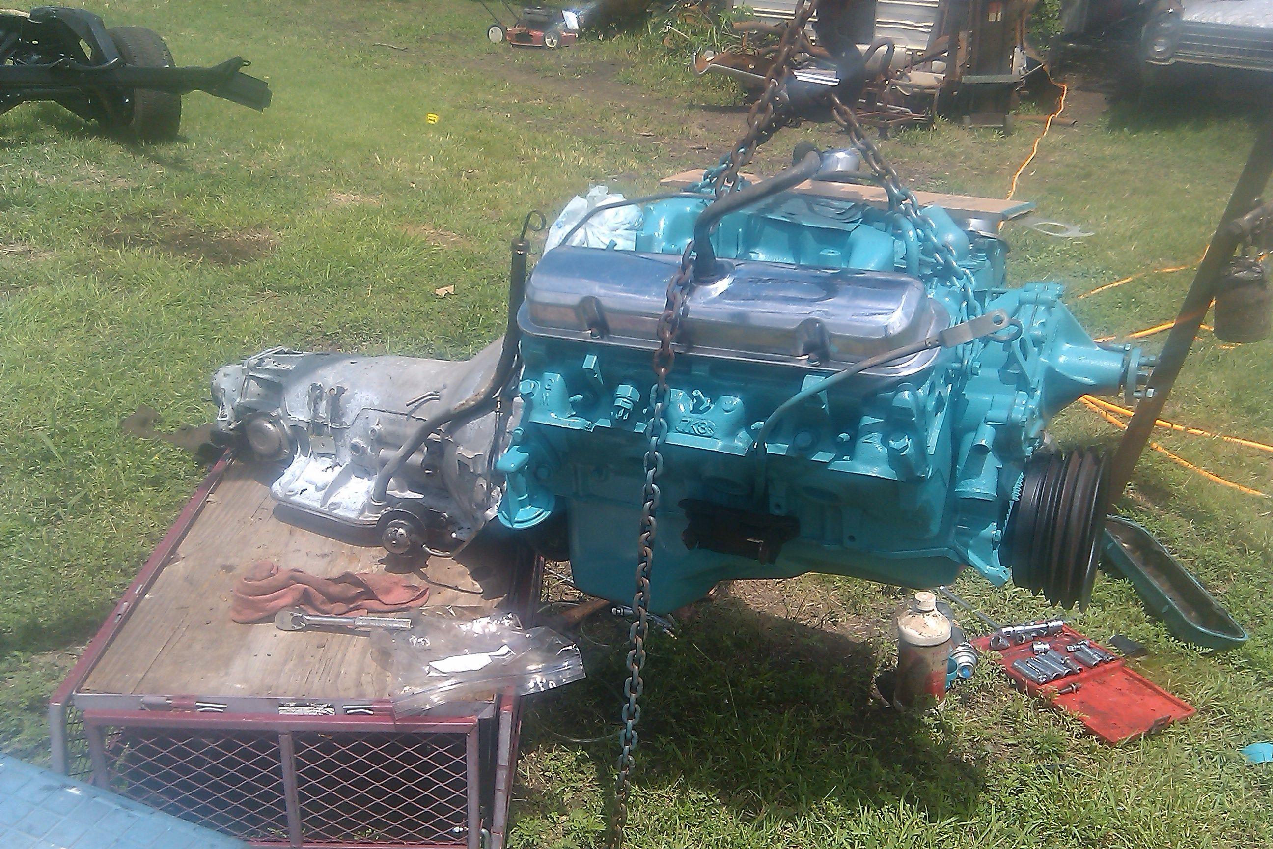 400 Pontiac engine and trans  | My 65 Pontiac project