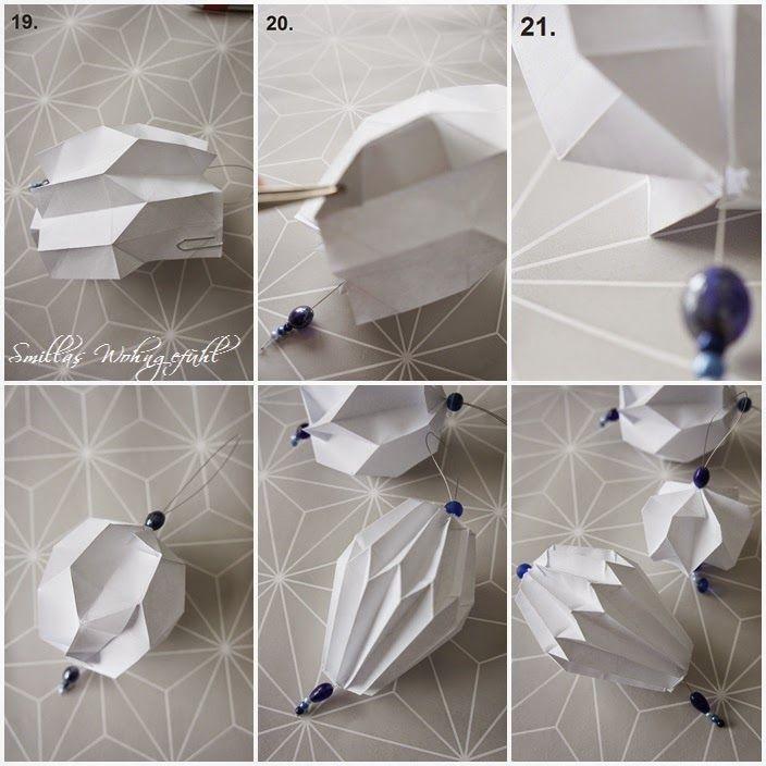 DIY: Origami/Plissee-Anhänger - Smillas Wohngefühl #origamianleitungen