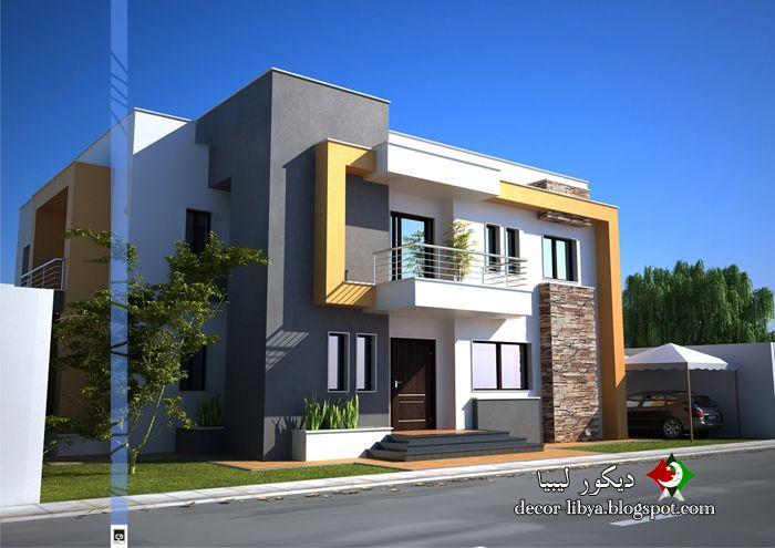 تصاميم منازل فيلات حديثه مودرن تشكيلات روعه Designs Houses Villas Modern تصاميم منازل Flat House Design Architecture House Modern House Plans