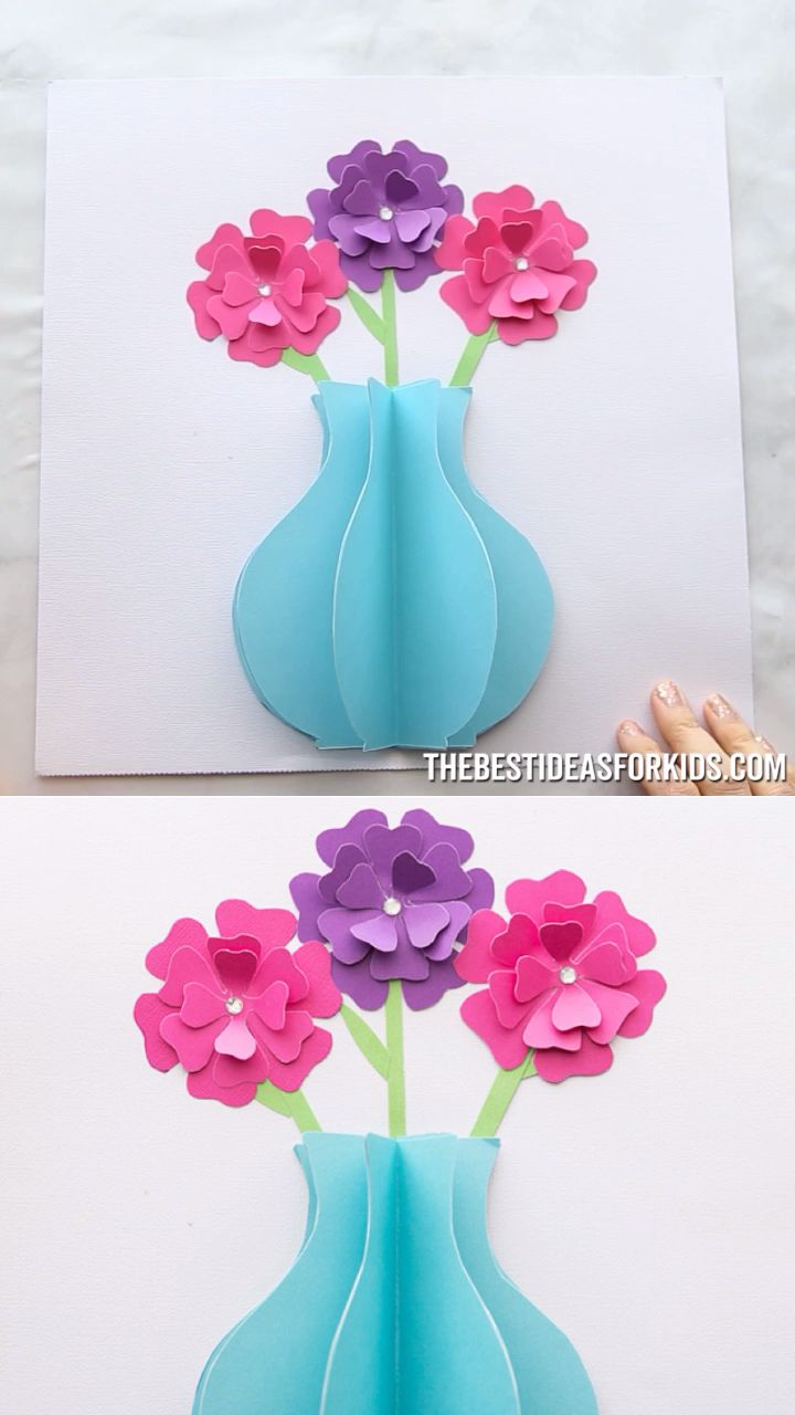 3D PAPER FLOWER CARD ???? #craft