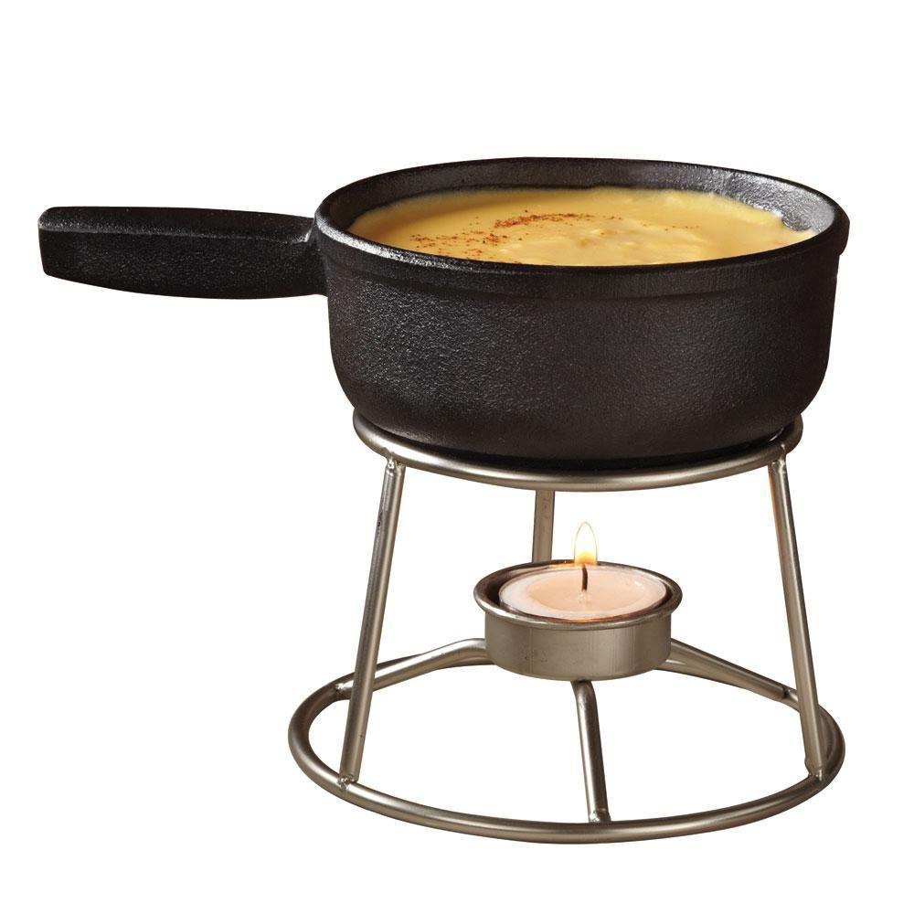 American metalcraft cifd 12 oz mini cast iron fondue pot
