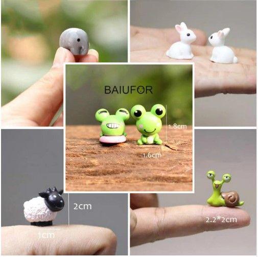 Baiufor Mini Tiere Miniatur Fee Garten Miniaturen Micro Moos