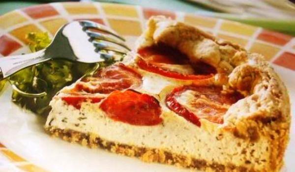 crostata de ricotta y tomate
