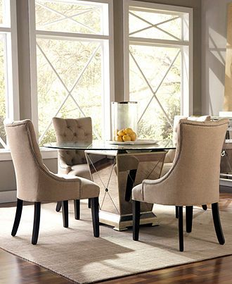 Marais Dining Room Furniture 5 Piece Set 54 Mirrored Table And 4 Chairs Macys
