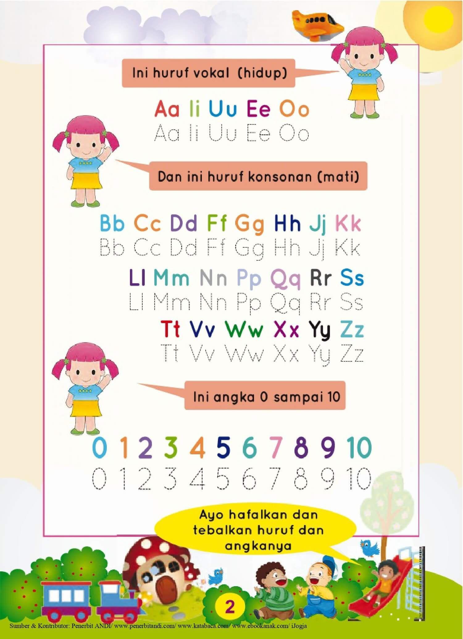 Ebook Super Calistung Mulai Usia Tk Huruf Konsonan Huruf Vokal Dan Angka 11 Ebook Anak Huruf Anak